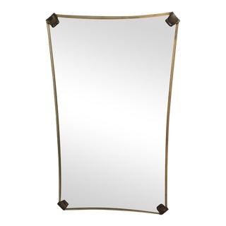 Art Deco Brass Mirror