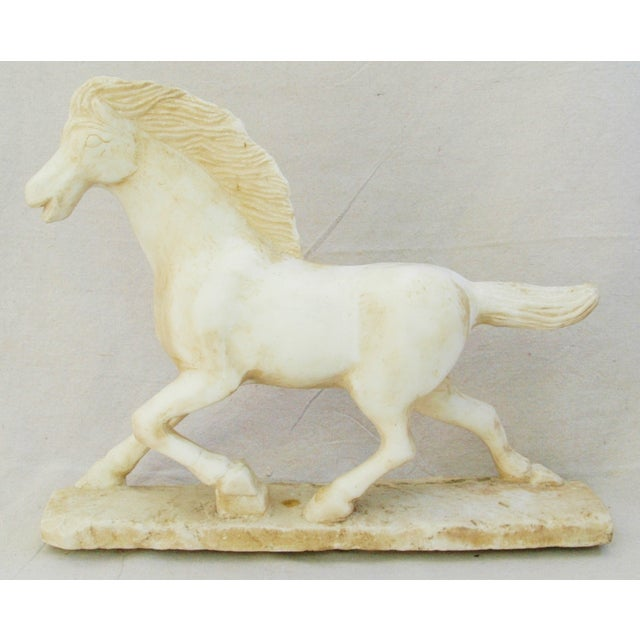 1940's Carved Marble Horse Statue - Image 5 of 11