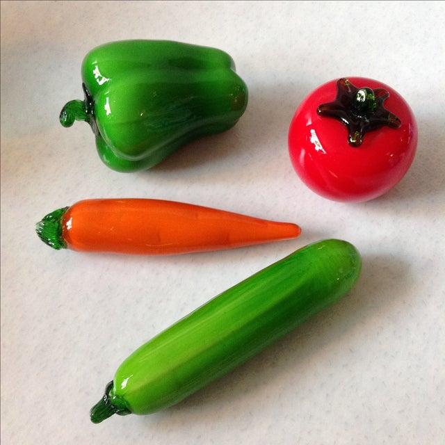 Italian Glass Vegetables - Set of 4 - Image 2 of 7
