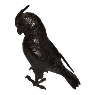 Metal Parrot Sculpture