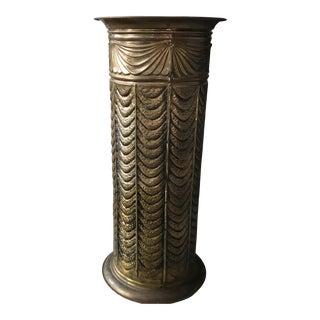 Mid Century Brass Colored Umbrella Holder
