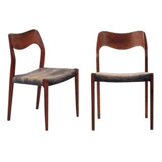 Pair of Niels Møller Rosewood Model 71 Side Chairs