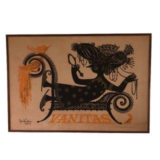 1954 Vintage Vanitas Wiinblad Poster