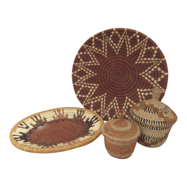 Assorted African Baskets - Set of 4 - Image 1 of 11