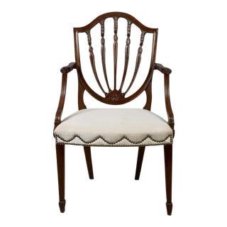 Hepplewhite Shield Back Mahogany Armchair