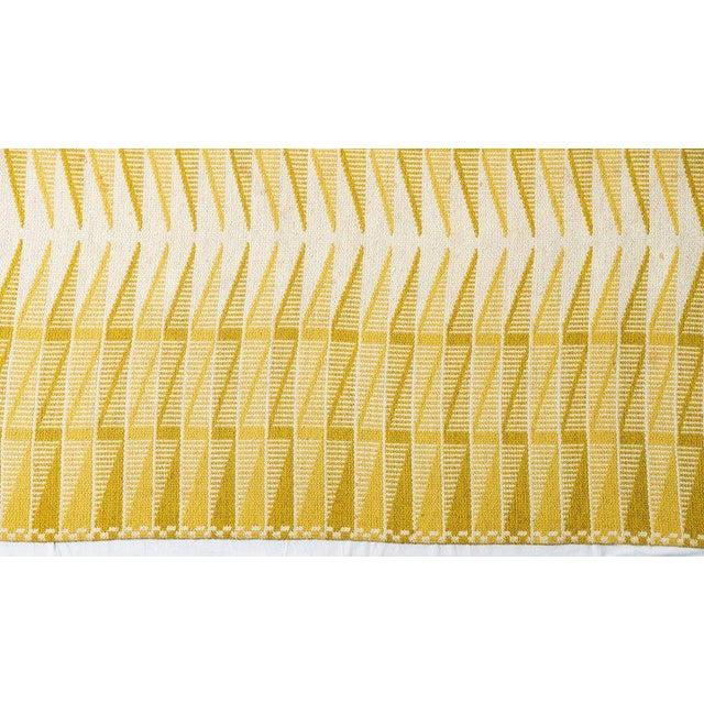 Vintage Swedish Flat-Weave Carpet - Image 6 of 9