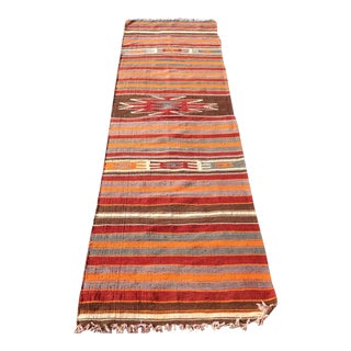 Vintage Turkish Kilim Runner- 2′5″ × 7′10″