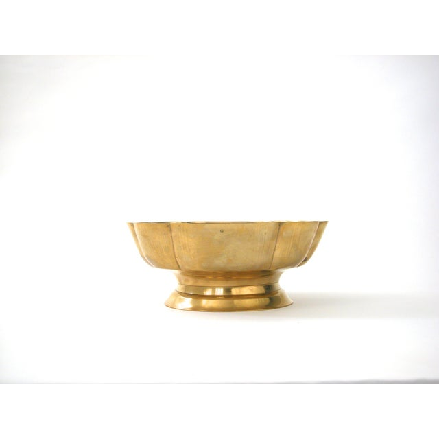 Brass Scallop Pedestal Bowl - Image 3 of 8