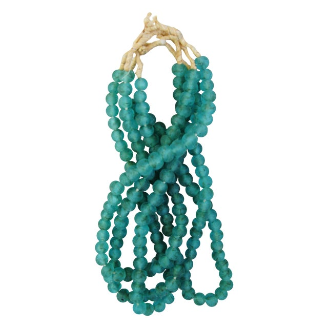 Turquoise Glass Bead Strands - Set of 4 - Image 1 of 5