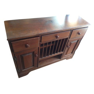 Vintage Small Wood Dresser Sideboard Cupboard Cabinet Buffet