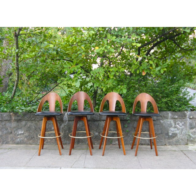Image of Mid-Century Chet Beardsley Bar Stools - Set of 4