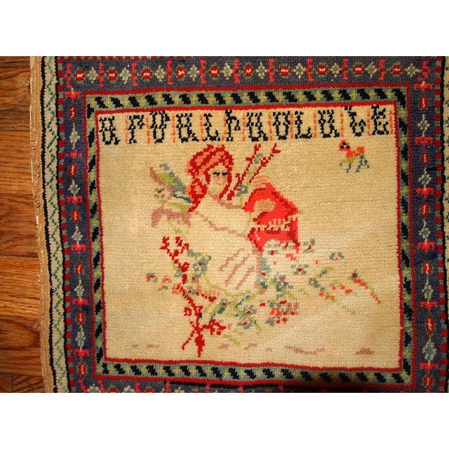 Armenian Antique Rugs: 1900s Antique Armenian Hand Made Rug - 1′3″ × 1′4″