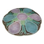 Image of Longchamp French Majolica Six Well Oyster Plate