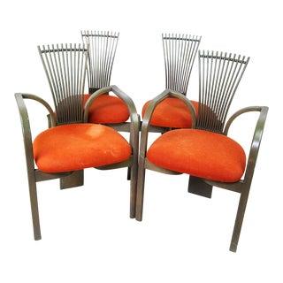 Danish Modern Fan Back Dining Chairs - Set of 6