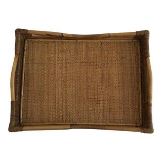 Palecek Bamboo & Wicker Serving Tray