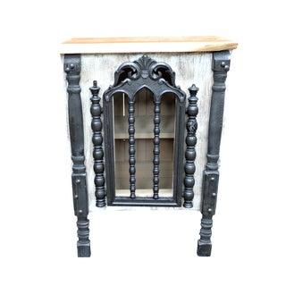 Rustic Custom Cabinet with Antique Chair Back Door