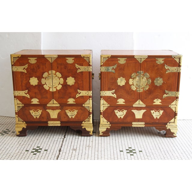 Image of Asian-Style Butterfly Chests - Pair