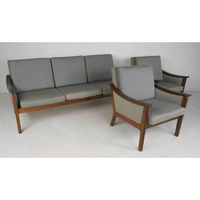 Mid-century Ole Wanscher Style Living Room Suite - Image 10 of 10