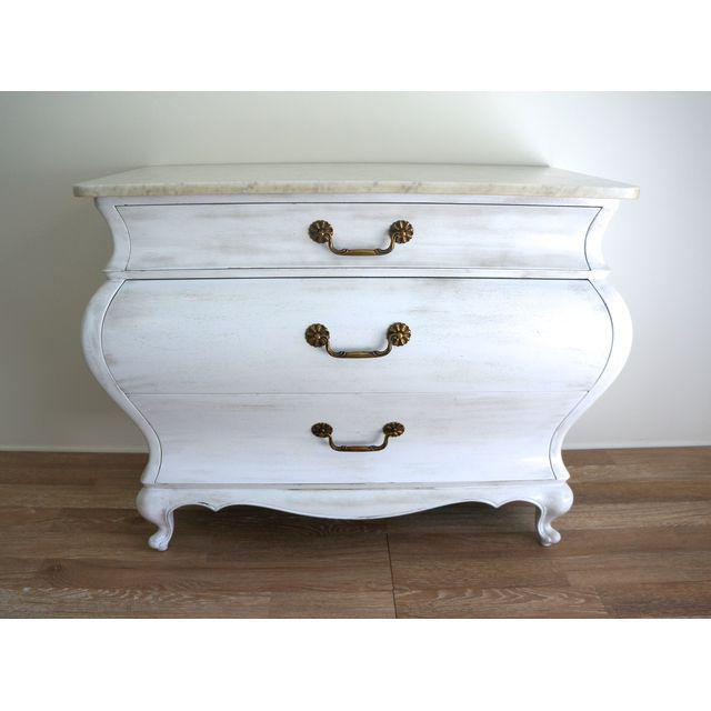 White Marble Top Commode by Grosfeld House - Image 9 of 9