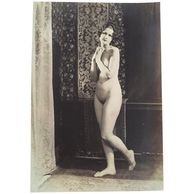 Vintage Art Deco Photo Nude Woman C. 1920 - Image 1 of 4