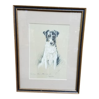 Fox Terrier Pastel Conte Drawing