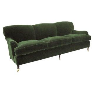 Mohair Green Velvet Sofa