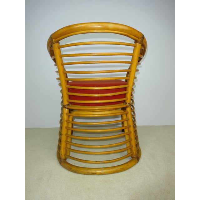 Mid-Century Deco Stylized Rattan Arm Chair - Image 9 of 10
