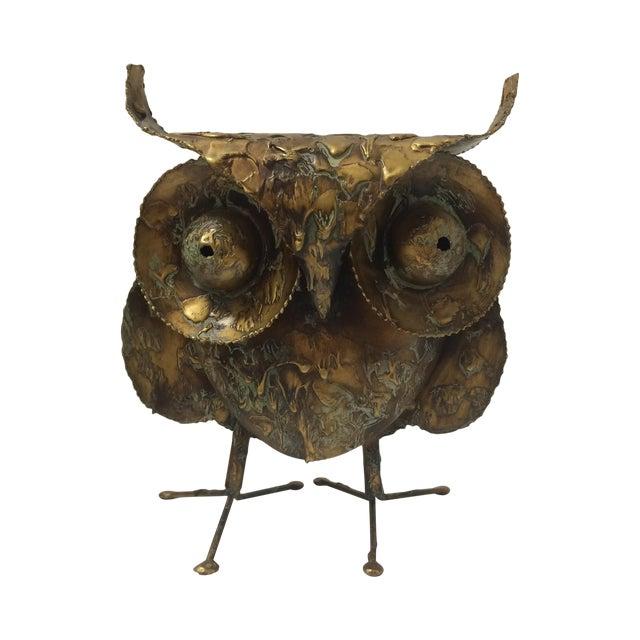 Curtis Jere Mid-Century Brutalist Owl Sculpture - Image 1 of 7