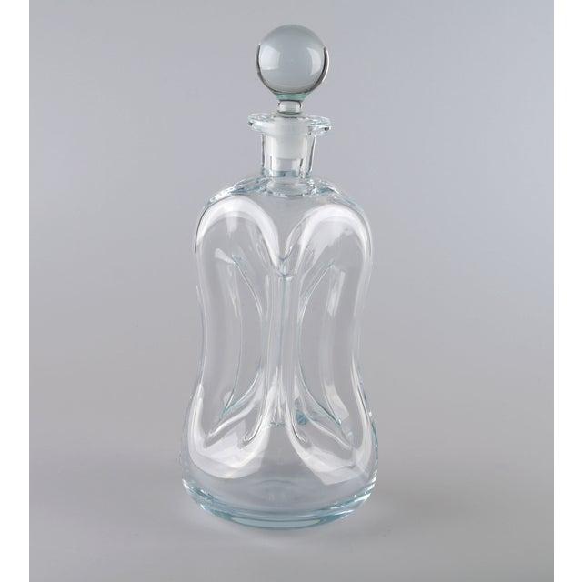 Holmegaard Kluk Kluk Hand Blown Glass Decanter - Image 8 of 9
