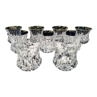 Murano Crystal Double Rocks Glasses - Set of 9
