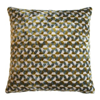 "Piper Collection Blue Green ""Andy"" Pillow"