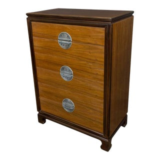 """American Midcentury """"chinese-modern"""" Chest of Drawers"""