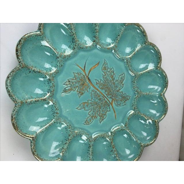 Mid-Century Ceramic Deviled Egg Plate - Image 6 of 6