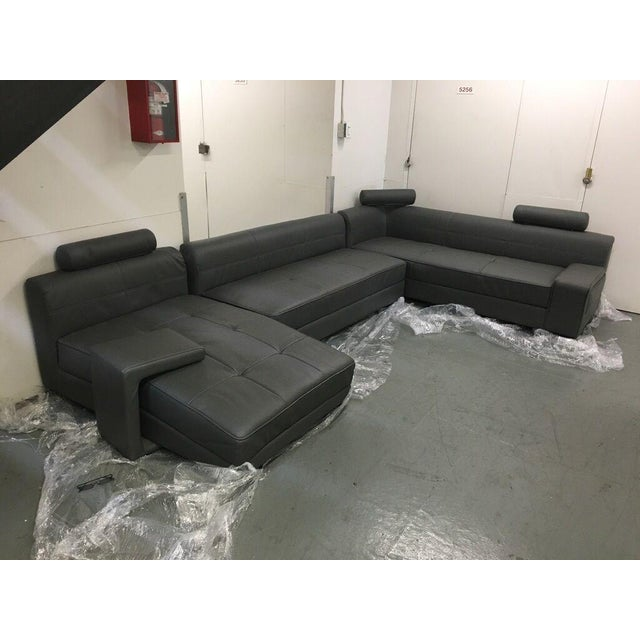 Image of Modern Gray Sectional Sofa