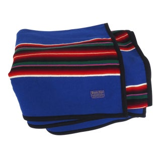 Pendleton Blue Serape Wool Throw Blanket