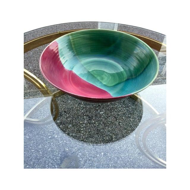 Large Jewel-Tone Glazed Bowl - Image 2 of 5