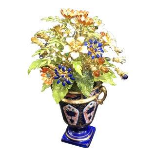 Jane Hutcheson Enamel Bouquet in Porcelain Vase