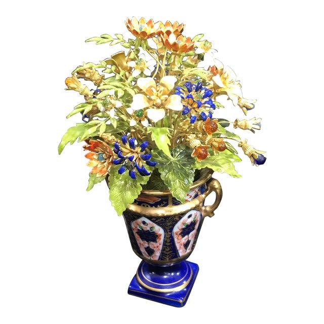 Jane Hutcheson Enamel Bouquet In Porcelain Vase Chairish