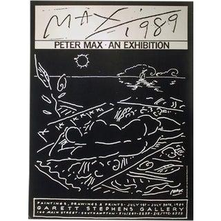 "1989 Peter Max ""Garett Stephens Gallery"" Poster"