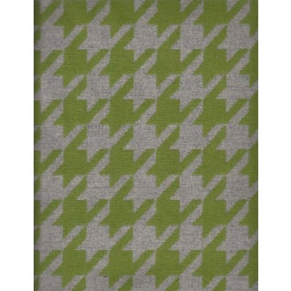 Lime Green and Gray Houndstooth Wool - 3.875 Yards
