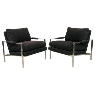Mid-Century Modern Milo Baughman for Thayer Coggin Lounge Chairs - A Pair