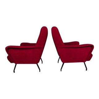 Pair of Italian Modern Lounge Chairs in the style of Marco Zanuso