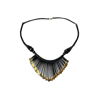 Black Metal Tribal Necklace