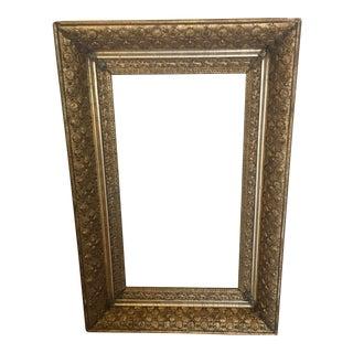 Vintage Gold Shell Detailed Frame