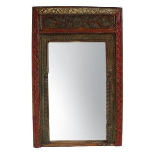 Antique Carved Rajasthan Doorway Mirror