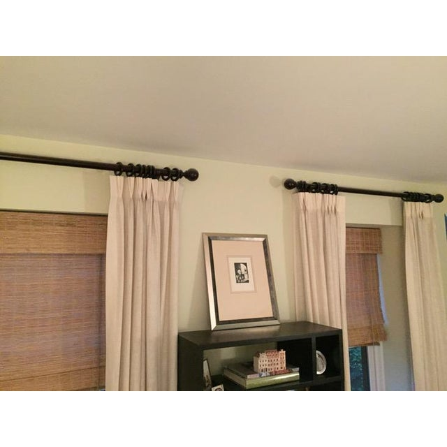 restoration hardware wood curtain rods a pair chairish