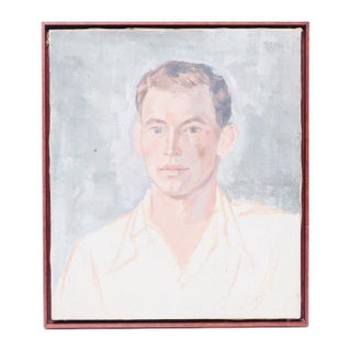 Vintage Portrait of Man in a Mahogany Frame