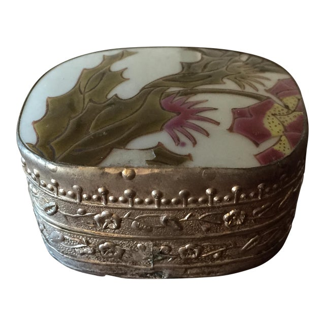 Vintage Pottery Fragment Trinket Box - Image 1 of 6