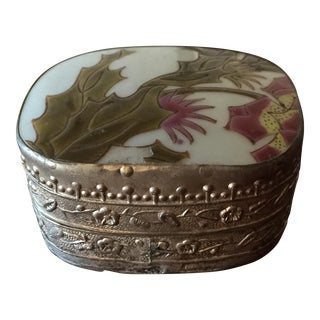 Vintage Pottery Fragment Trinket Box
