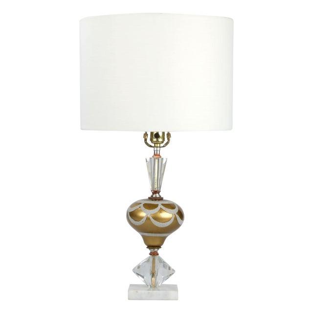 Italian Crystal & Marble Table Lamp - Image 1 of 10